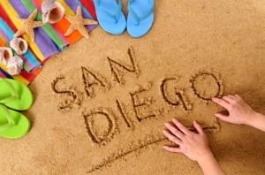 San Diego beach scene